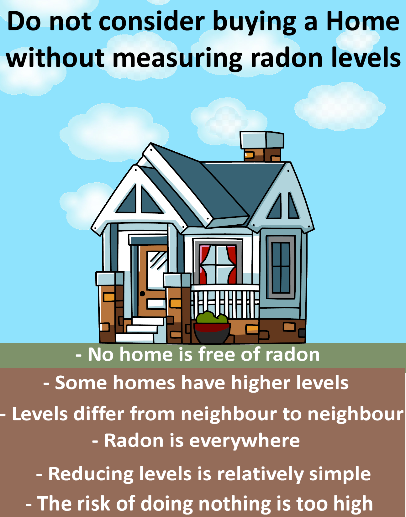 Don't buy a home without having it tested for radon first.